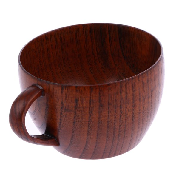 wood tea 210ml Tea Natural Jujube Wooden with Handgrip Wine Beer Milk Coffee Cup for Home Bar Kitchen Accessories