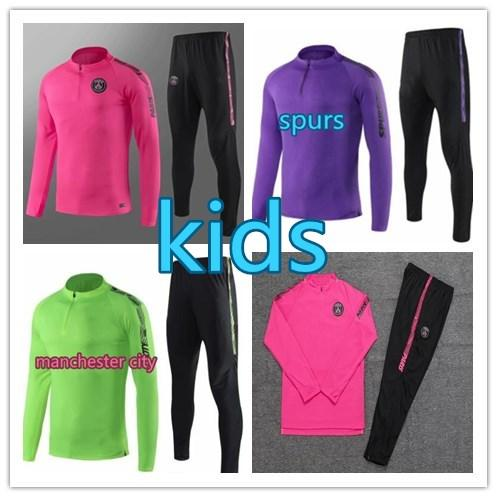 2019-2020 paris kids Football training suit psg MAHREZ soccer tracksuit MBAPPE jogging psg jacket 19/20 SPURS Soccer Wear