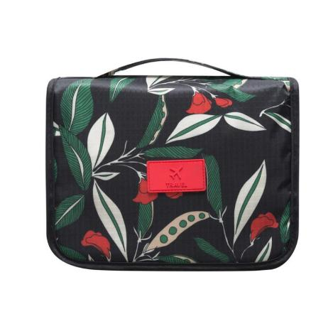 Wholesale Green Red Women's Hanging Travel Toiletry Storage Bags Portable Multi Pockets Makeup Case Cosmetic Wash Pouch Hand Organizer