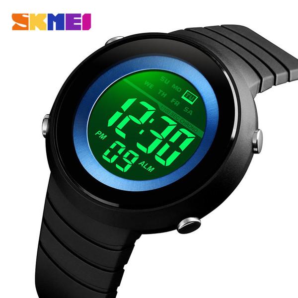 Skmei hombres simples relojes deportivos luz de fondo led 50 m reloj digital a prueba de agua cronógrafo relojes de pulsera relogio masculino 1497