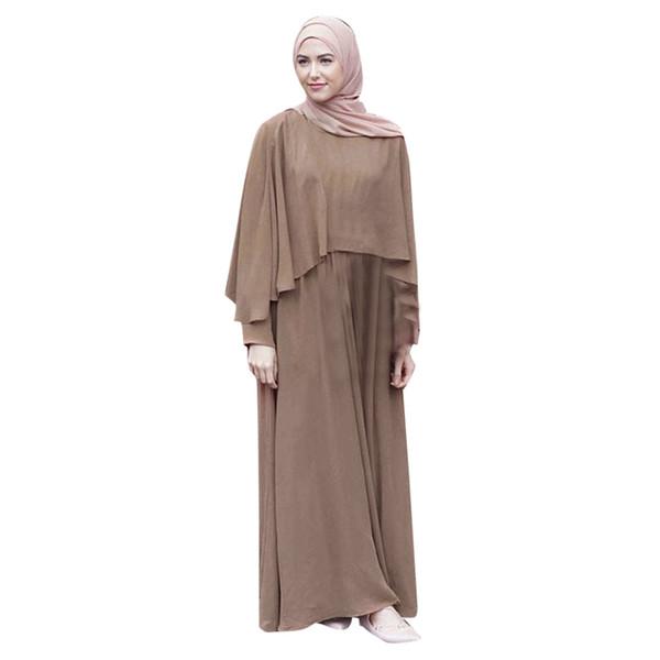Vantage Bandage Dubai Ramadan Abaya Dress Double-layer Modal Muslim Women Dresses Islamic Turkish Robe Arabe Musulmane Clothing#