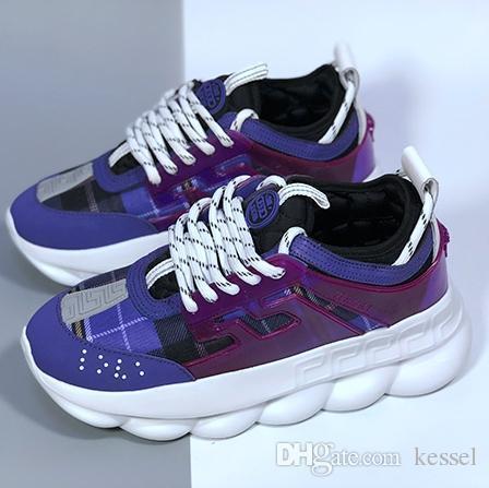 w4 Uomo Donna Chainz Chain Reaction Love Sneakers Sport Moda Luxurys Designer Scarpe casual Allenatore nero Leggera suola con link in rilievo