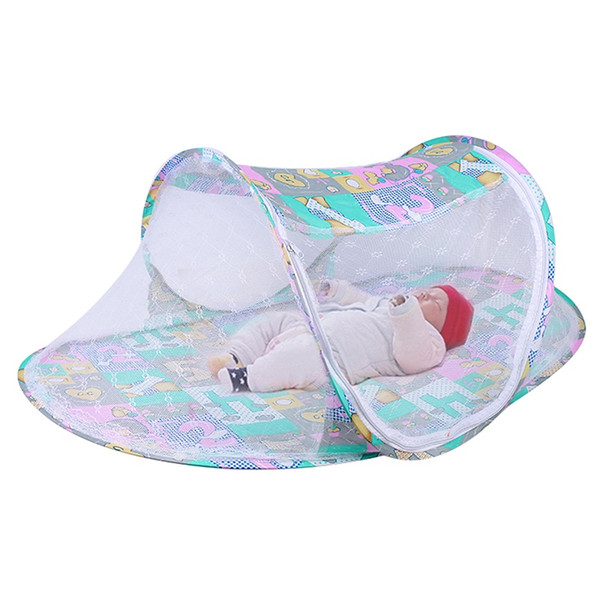 Summer Portable Baby Crib Netting Baby Mosquito Net Tent New Foldable Mosquito Netting Multi-Function Cradle Bed Infant Bedding