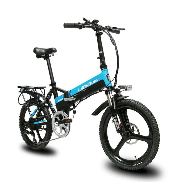 Cyrusher G550 Folding full suspension electric bike mechanical disc brake 7 speeds 3 knife wheel e bicycle