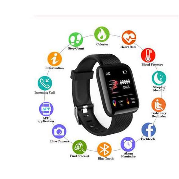 ID116 Plus Esporte Banda Inteligente Pressão Arterial Monitor de Freqüência Cardíaca Pulseira Inteligente Rastreador De Fitness Inteligente Pulseira Relógio Com Pacote de Varejo