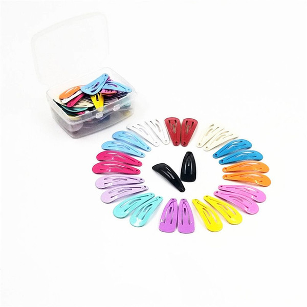 30pcs 3cm Snap Hair Clips for Hair Clip Pins BB Hairpins Color Metal Barrettes for Baby Children Women Girls Styling Accessories