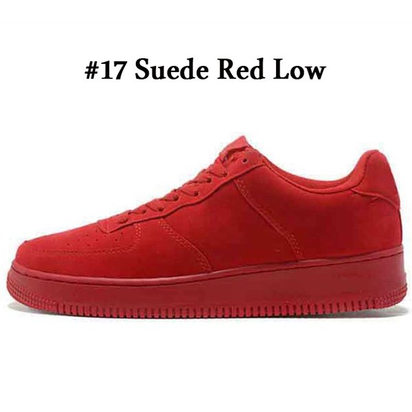 A17 Suede Red Low