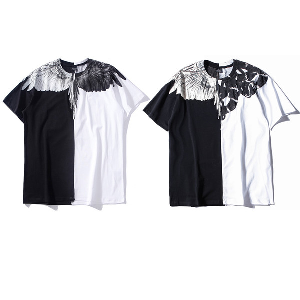 Men Women Italy Marcelo Burlon Wings T-shirts Hip Hop Hight Quality Summer Fashion Cotton Streetwear RODEO MAGAZINE MB T-Shirts