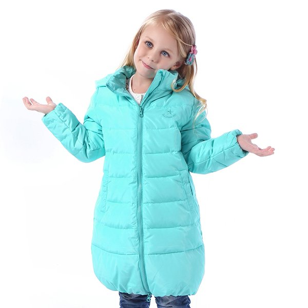 3-10 Years Children Girls Winter Down Coats 80% Duck Down Hooded Long Boys Winter Jacket Kids Outerwear & Coats Warm Clothing