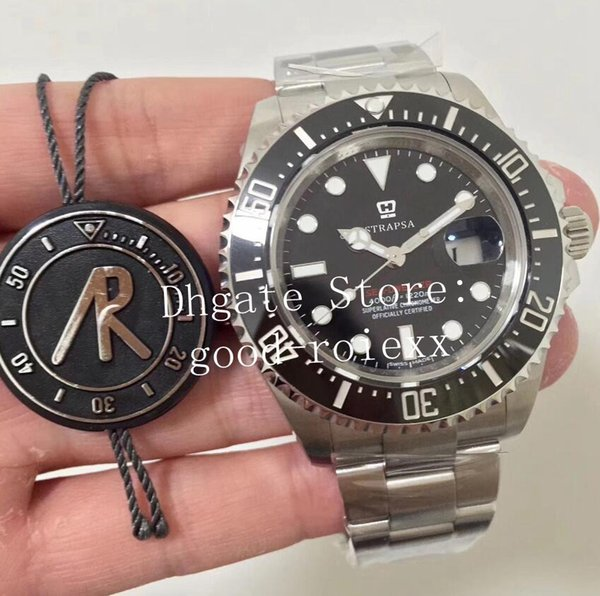 43mm men automatic eta 2824 watch men 50th anniver ary 904l teel ceramic bezel dweller dive ea 126600 oy ter ar date factory watche