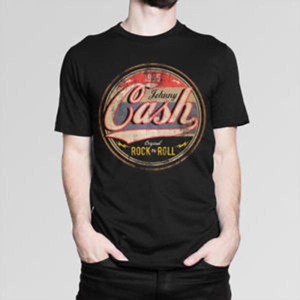 Джонни Кэш RoWholesale н-ролл футболки мужчин с женщинами 039 039 s Все размеры
