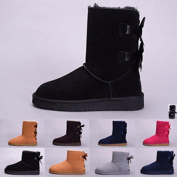 UGG boot womens shoes Mulheres Australiano Clássico ajoelhado Botas Ankle boots Preto Cinza castanha navy blue Mulheres botas garota Tamanho EUR 36-41