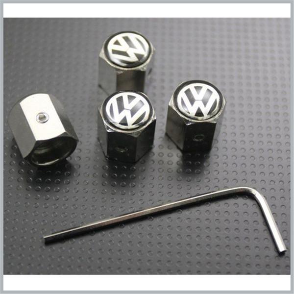 10 Sätze / los Volkswagen Rad Reifen Reifen Ventilschaft Luft Staubschutzkappen Diebstahlsicherung VW Großhandel