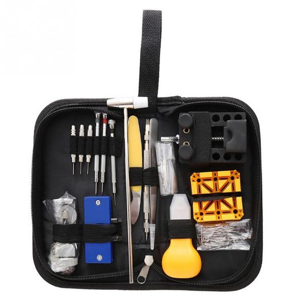 130Pcs Portable Montre Repair Tool Set Ouvre cas brucelles tournevis Kit Horloger Case