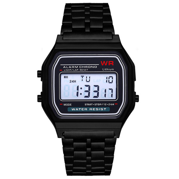 top popular Free shipping F-91W watches Fashion Ultra-thin LED Wrist Watches F91W Men Women Sport watch 2020