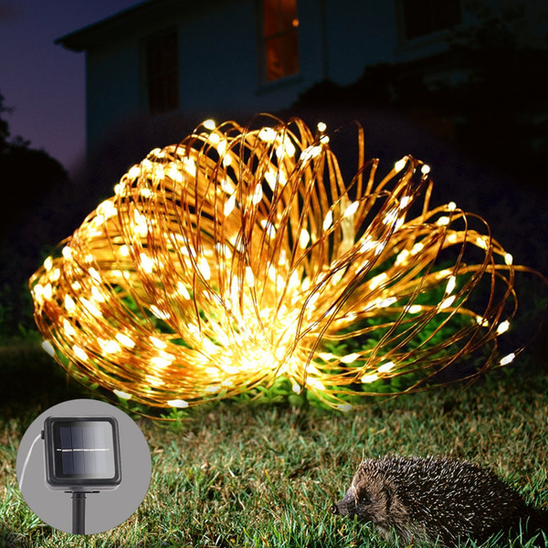 100Leds 200Leds Garland Solar Powered Copper Wire LED Fairy Light Waterproof LED String Light for Christmas Garden Holiday Decor LED Lights