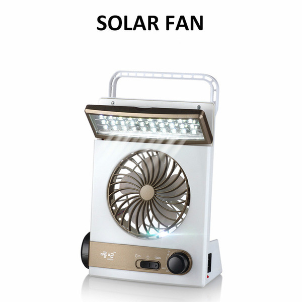 Çok fonksiyonlu Fan Ile Açık Güneş Işığı El Feneri Taşınabilir 30 LEDs Masa Lambası Şarjlı Güneş Enerjisi Açık Kamp Işık Yürüyüş Çadır