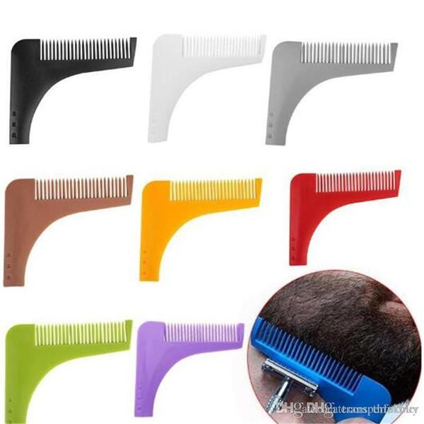10 Farben Bart Bro Bartformwerkzeug für Perfekte Linien Haarschneider für Männer Trim Vorlage Haarschnitt Gentleman Modellierung Kamm 200 stücke