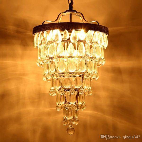Estilo Sala E14 Lustres De De Lámparas Cooper Retro Compre De Grandes La Cristal De IMPERIO Lámpara La Cae LED Vendimia Europeo Iluminación Araña zqSpGLMVU