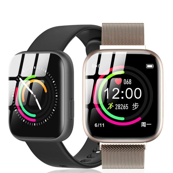 ESEED P4 Montre Homme intelligent IP67 Taux étanche 1,4 pouces Grand écran de veille longue 170mAh cardiaque Appel Rappel Smartwatch pour ios Android