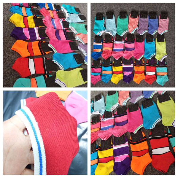 top popular Fashion Quick Dry Adult Socks Boys & Girl's Short Sock Cheerleader Sports Socks Teenagers Ankle Sock Multicolors with Paperboard 2019