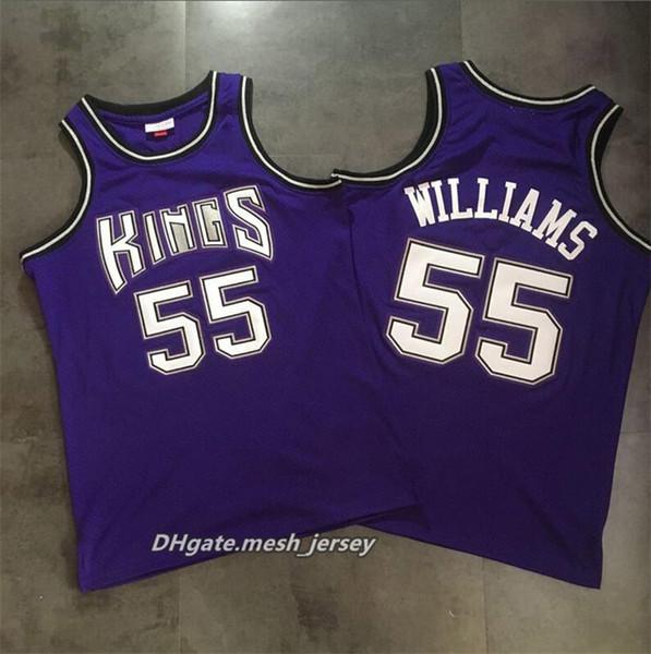 best service 2be95 fe746 2019 Men Retro King Mitchell & Ness Basketball Jerseys 55 Jason Williams  Sacramento Dense AU Mesh Fabric Jerseys Size S XXL From Good_jerseys088, ...