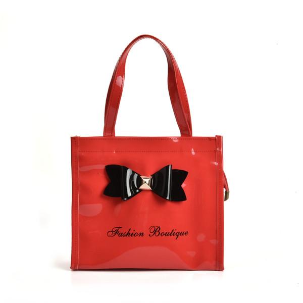 MINI Kinder Mädchen Tasche Jungen Helle Lackleder Handtasche Bogen Design Nette Feste Umhängetasche für Kinder Candy Farbe Einkaufstasche Hohe QualityQQ2064