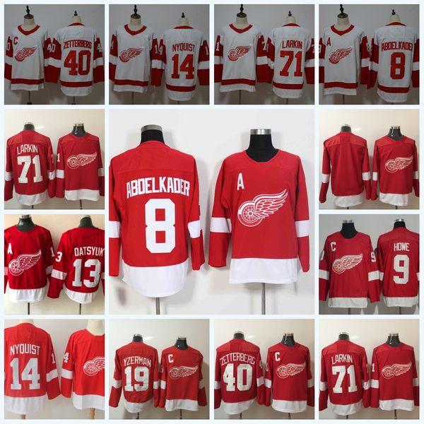 Detroit Red Wings 71 Larkin 8 Justin Abdelkader 14 Gustav Nyquist 40 Henrik Zetterberg 13 Pavel Datsyuk 19 Steve Yzerman Hockey Jersey