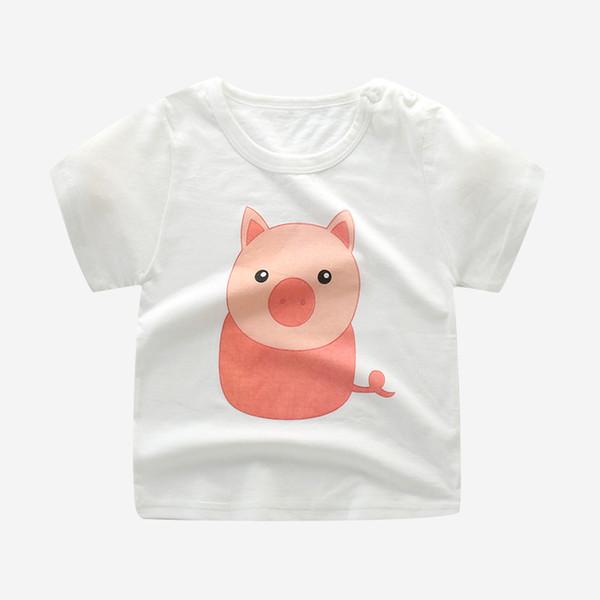 top popular Fashion Cotton sister brother Children Kids Cartoon Print T shirts Tops Clothing Tee 2021