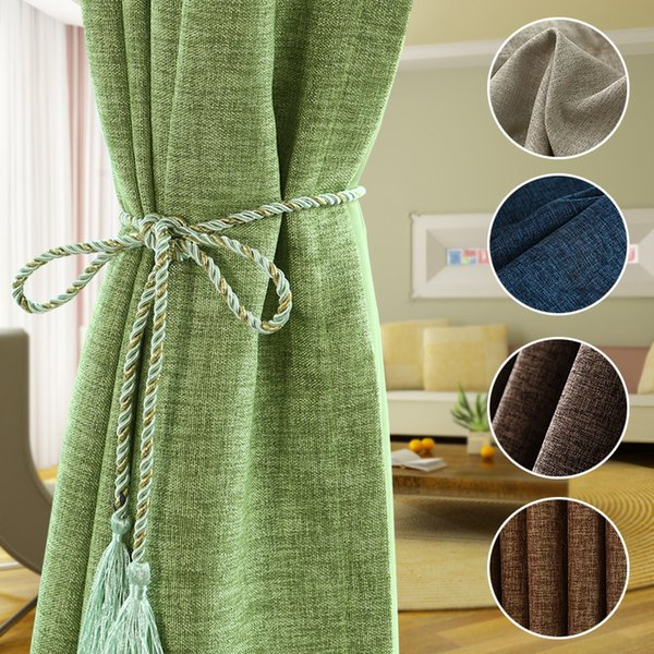 [byetee] Oscuramento Tessuto in cotone moderno Tenda per tende Tessuti per camera da letto Cortinas Livingroom Cortina Tende Q190530