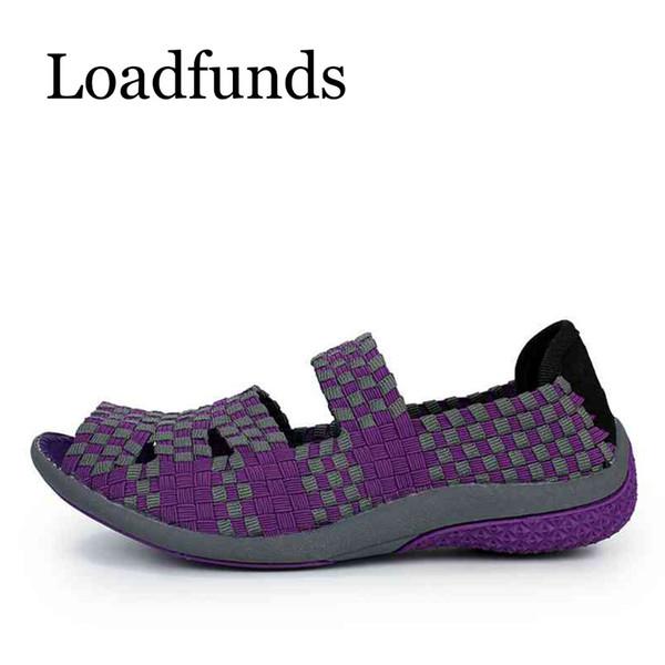 Designer Dress Shoes Loadfunds Women Woven Platform Shoe Slip On Summer Casual Loafers Bending Non-Slip Air Mesh Breathable Size 35-40