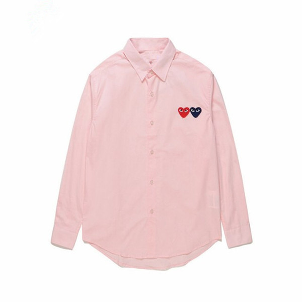 Женская одежда CDG играть японский COMMES сердце Emoji DES GARCONS рубашка с длинными рукавами от мужчины женщины хлопок кардиган рубашка белое сердце любовь пальто