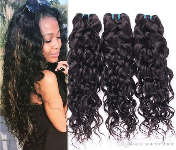Water Wave Hair Bundle 100% Unprocessed Virgin Hair Brazilian Malaysian Remy Human Hair Extensions,100g per piece