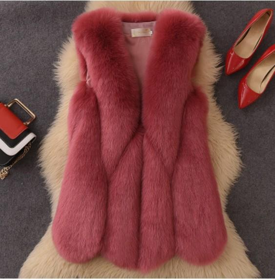 2019 Vetement Winter Women's Faux  Fur Coat Furry Fluffy Vest Plus Size Coat Lolita Slim Waterproof Vest Plush Vests AW205