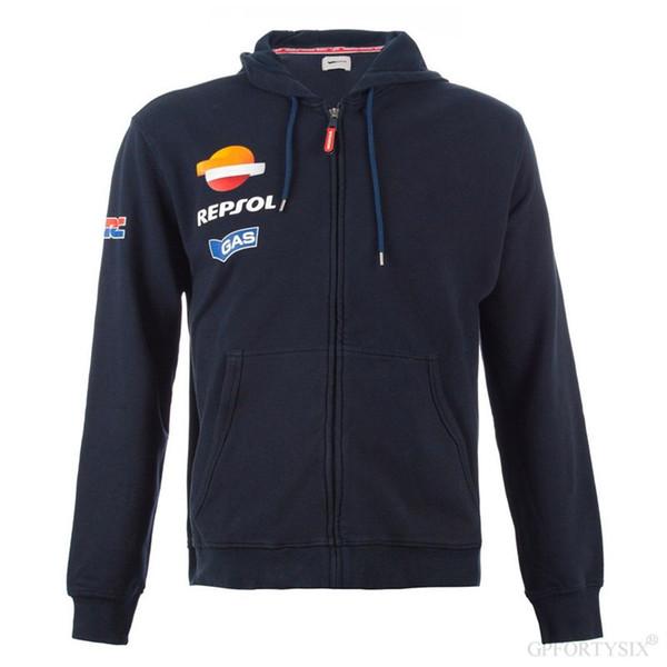 Nuevos Moto GP Repsol para hombre con capucha para Honda HRC Motocicleta con capucha Endurance Racing Zip Up sudadera chaqueta de moto