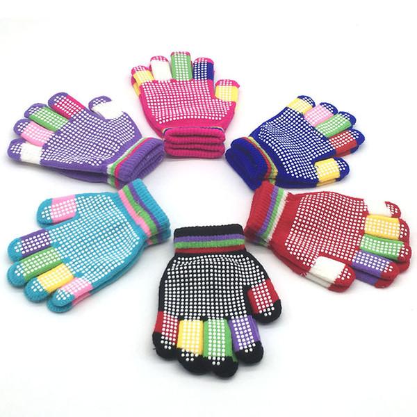 Новый студент Волшебных перчаток Детских перчаток Горные лыж Нейтральных Вязание листок бумаги с поправками к патенту, прикрепленным к патентному описанию Теплых перчаток смешанных цвета 12 пара оптом