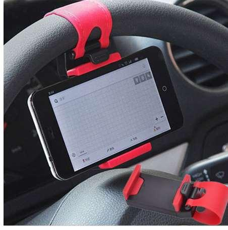 Car Holder Mini Air Vent Steering Wheel Clip Mount Cell Phone Mobile Holder Universal For iPhone Support Bracket Stand