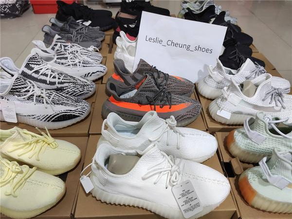 top popular 2019 Kanys West Clay True Form Hyperspace Black Static 3M Reflective Cloud Antlia Synth Lundmark GID Cream Zebra Men Women Running Shoes 2019