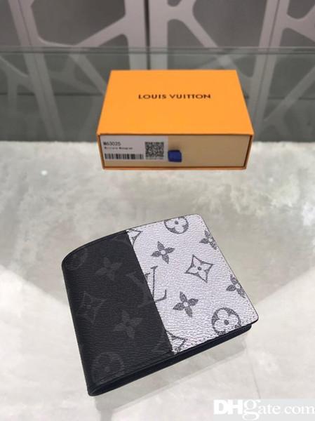 В 2019 году высокое качество, кожа, мода, высший сорт, мужчины и женщины - сумка, кошелек, сумка для карты, сумка для визитки, модель, M63025, размер 11.5cm9cm1cm