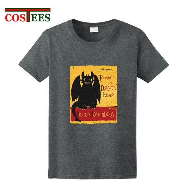 219258f0 Design Black Dragon Noir T-shirt Toothless Men T Shirt How To Train Your  Dragon