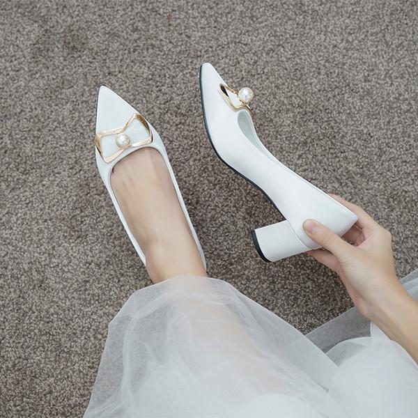 1Shoes Mulher Grosso Com Vermelho Mulher Grávida Com Sapato De Noiva Cor De Champagne Da Dama De Honra Pérola Strass Branco Alta Com Sapato De Casamento Vestido