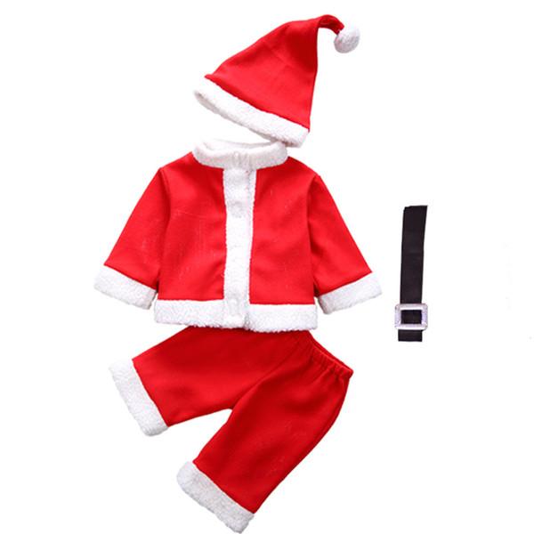 детская одежда для мальчика костюм Санта-Клауса на рождество и новый год комплекты детской одежды
