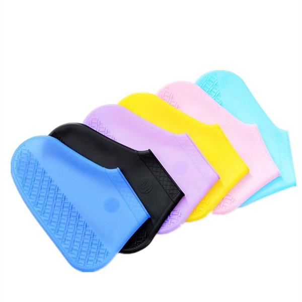 Cubierta de zapatos Gel de silicona Impermeable Cubiertas para zapatos de lluvia Reutilizables Espesamiento resistencia antideslizante Cubrebotas Botas de lluvia Rain GearT2I5355