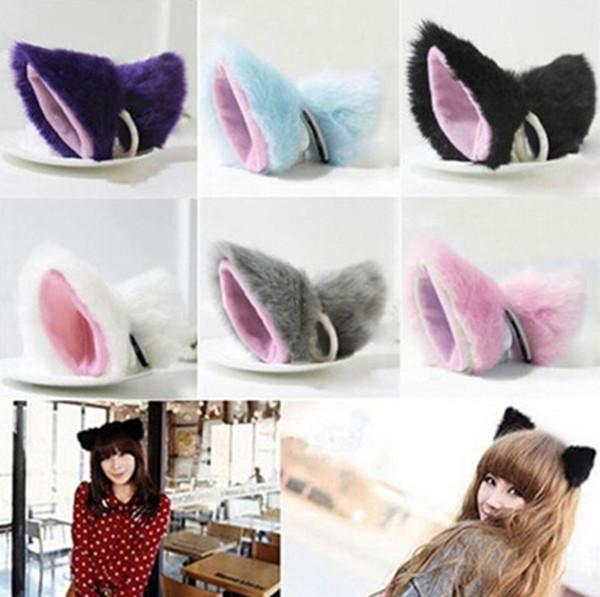 Cosplay japonés oreja de gato pequeña campana bebé niñas diadema Barrette Maid Style accesorios para el cabello para las mujeres diademas tocado
