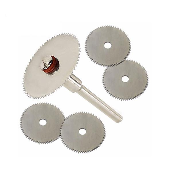 6pcs/set Mini HSS Circular Saw Blade Rotary Tool For Dremel Metal Cutter Power Tool Set Wood Cutting Discs Drill Mandrel Cutoff
