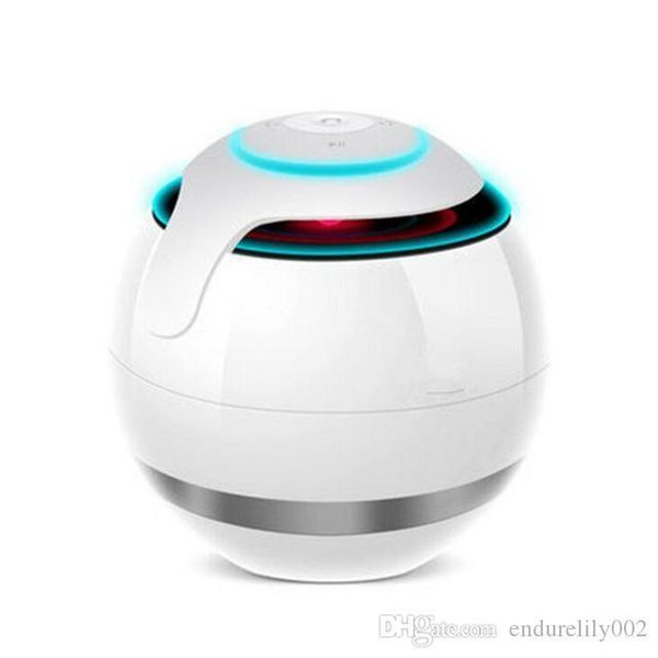 Round Ball Wireless Bluetooth Speaker Led Mini Portable Audio Outdoors Bluetooth Speaker Support Tf Card/aux