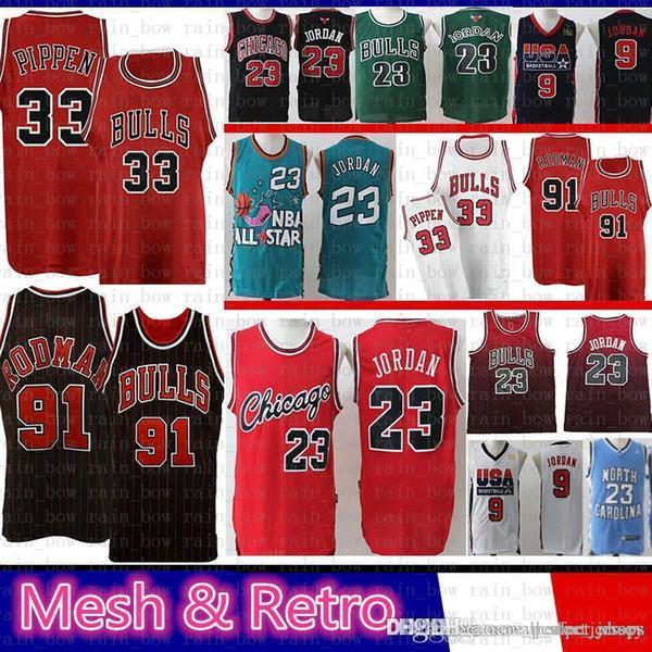 watch 6cb93 15994 2019 Wholesale Mens 91 Dennis # Rodman 33 Scottie # Pippen ...