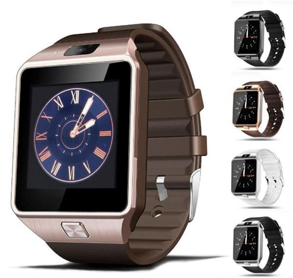 DZ09 Smart Watch Bluetooth Smartwatches DZ09 Orologi intelligenti con fotocamera SIM Card per smartphone Android SIM Orologio intelligente in scatola al minuto