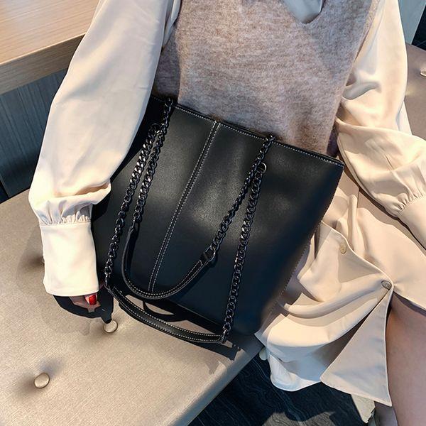 Outono e inverno de grande capacidade saco Womens 2019 Nova Moda Selvagem Ins ombro Big Bag premium Sense Saco de mão