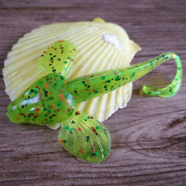 Fish 6 / lote de 8 cm / 4,6 g pequeño pescado de alta calidad cebo artificial gel de sílice wiggler pesca con mosca accesorios cebo suave polea